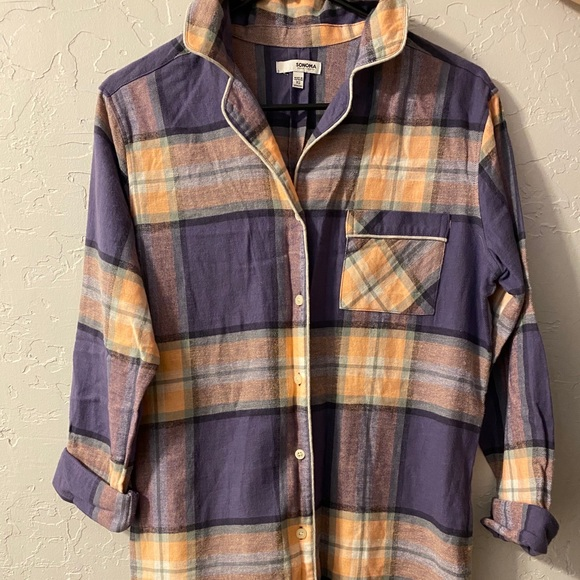 Flannel sleep dress